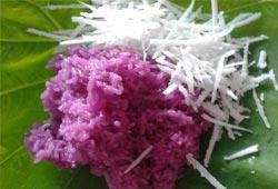 Xôi lá cẩm tím cho những ngày giá rét Hà Nội 9 độ C